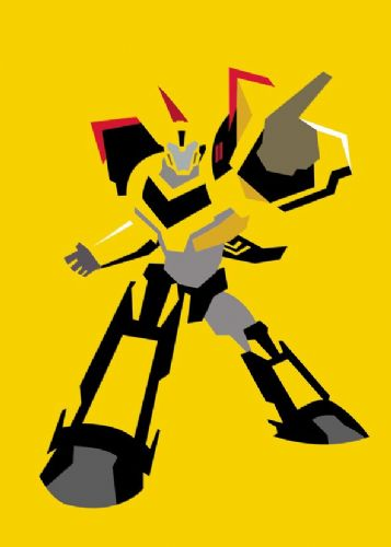 TRANSFORMERS - BUMBLEBEE MINIMAL canvas print - self adhesive poster - photo print